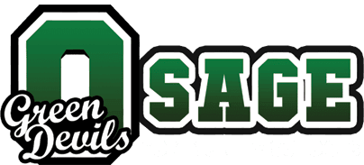 Osage Community School Green Devils Logo